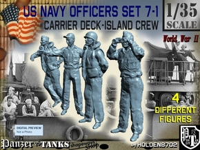 1-35 USN Officers Carrier Island Set7-1 in Smooth Fine Detail Plastic