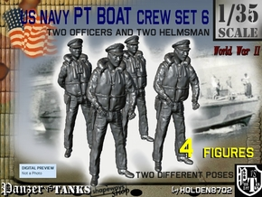 1-35 US Navy PT Boat Crew Set6 in Smooth Fine Detail Plastic
