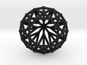 Diamond - Brilliant crystal geometry in Black Natural Versatile Plastic
