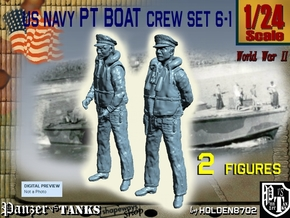 1/24 US Navy PT Boat Crew Set6-1 in White Natural Versatile Plastic