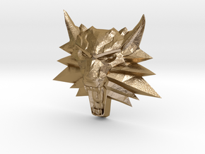 Ornament Witcher2 in Polished Gold Steel
