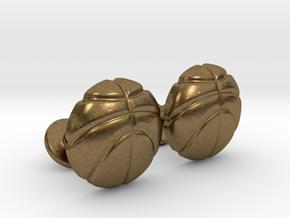 Basketball CuffLinks in Natural Bronze