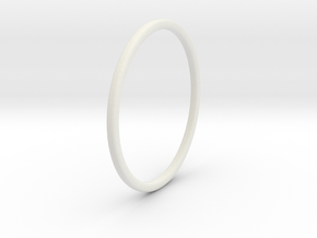 Simple band - size 9 US/ 189 mm EU - 1.2 mm thick  in White Strong & Flexible