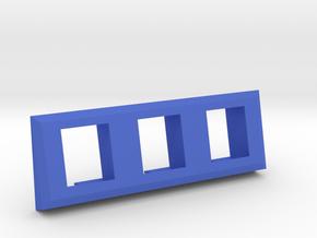 3 Coin Bezel (3 Coin Wide) - Pinball Coin Door in Blue Processed Versatile Plastic