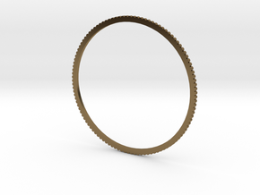 New Ingranaggio Bangle - Slim Version in Polished Bronze