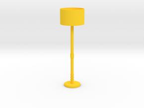 Floor Lamp in Yellow Processed Versatile Plastic