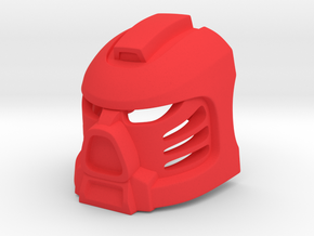 Tahu Prototype Mask in Red Processed Versatile Plastic