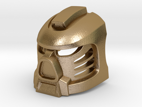Tahu Prototype Mask in Polished Gold Steel