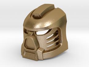 Tahu Prototype Mask in Polished Gold Steel