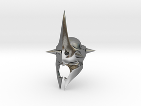 Witchking of Angmar Helmet (LEGO compatible) in Polished Silver