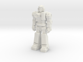 Diaclone Pilot, at attention 35mm Mini in White Strong & Flexible