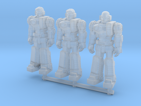 Diaclone Pilot Squad, at attention 35mm Mini in Smooth Fine Detail Plastic