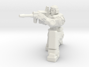 Diaclone Sharpshooter, 5mm Mini in White Natural Versatile Plastic