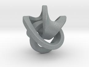 Soliton Pendant in Polished Metallic Plastic: Medium