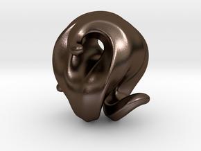 G3 Sculpture in Polished Bronze Steel: Medium