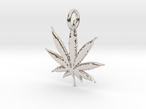 420 Pendant in Rhodium Plated Brass