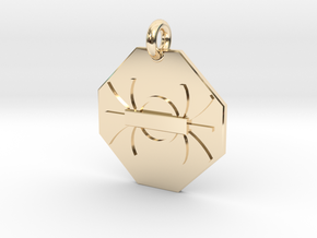Pendant Gauss's Law of Magnetism in 14k Gold Plated Brass