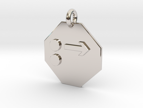 Pendant Newton's First Law in Rhodium Plated Brass