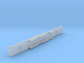D&RGW Diner Chassis in Smooth Fine Detail Plastic