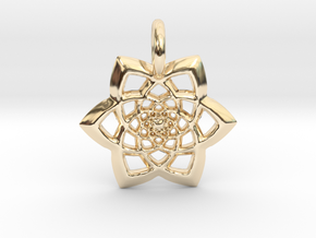 Spectacular Pendant in 14k Gold Plated Brass