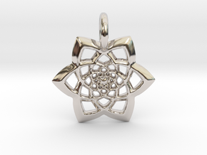 Spectacular Pendant in Rhodium Plated Brass