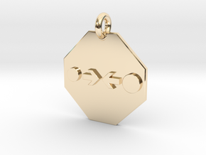 Pendant Newton's Law Of Gravitation in 14k Gold Plated Brass