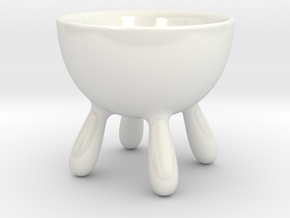 Milky Breakfast Bowl ø8cm H7.5cm in Gloss White Porcelain