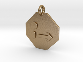 Pendant The Lorentz Factor in Polished Gold Steel