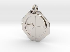 Pendant Euler's Identity in Rhodium Plated Brass
