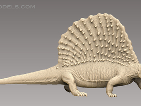 Edaphosaurus1:35 v2 in White Strong & Flexible