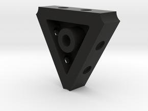 3-camera Base in Black Natural Versatile Plastic