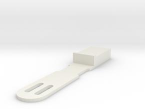 Qsfp Cable Retainer v2_0 in White Natural Versatile Plastic