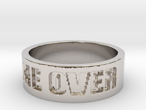 Game Over Ring in Rhodium Plated Brass: 13 / 69
