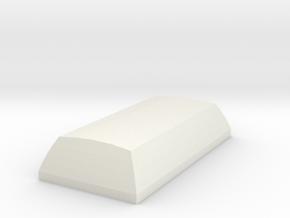 2u Spacebar in White Natural Versatile Plastic