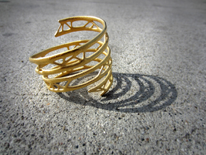 The Organic Bracelet in Matte Gold Steel
