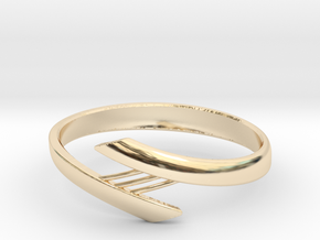 Bridge Bracelet in 14k Gold Plated Brass: Small