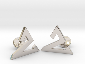 Delta One Cufflinks in Rhodium Plated Brass