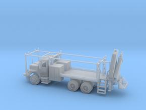 MOW Rail Truck 2 Door Cab W Hiab Hoist 1-87 HO Sca in Smooth Fine Detail Plastic