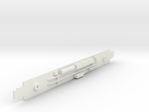 D&RGW Prospector Coach Chassis in White Natural Versatile Plastic