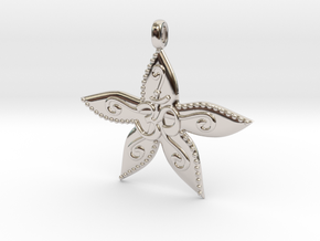 Starfish OM GOA Symbol Jewelry Necklace in Platinum