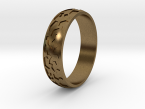 "Ring ""Ornament 2"" in Natural Bronze"