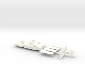1/500 Scale Revell Long Beach Model Upgrades in White Strong & Flexible Polished