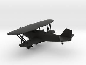 Curtiss P-6 Hawk biplane in Black Natural Versatile Plastic: 1:108