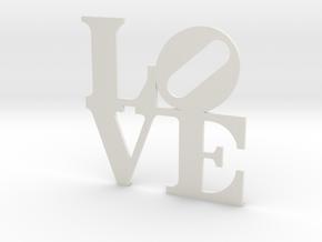 LOVE Sculpture wall decoration in White Natural Versatile Plastic
