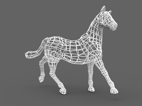 2014 Year of the Horse- Nylon (Large) in White Natural Versatile Plastic