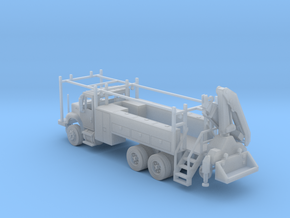 MOW Rail Truck 2 Door Cab W Hiab Hoist Full Cabine in Smooth Fine Detail Plastic