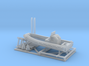 1/120 23 foot RIB boat with stand in Frosted Extreme Detail