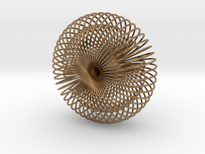 Double Wire Torus 75cm in Natural Brass