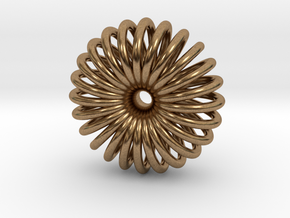 Torus Pendant necklage in Natural Brass