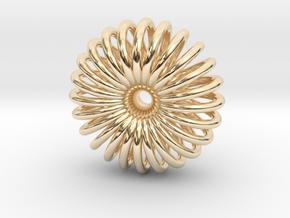 Torus Pendant necklage in 14K Yellow Gold